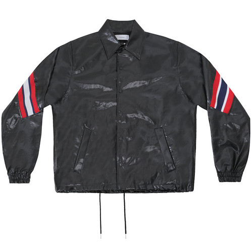 Black PU Coach Jacket