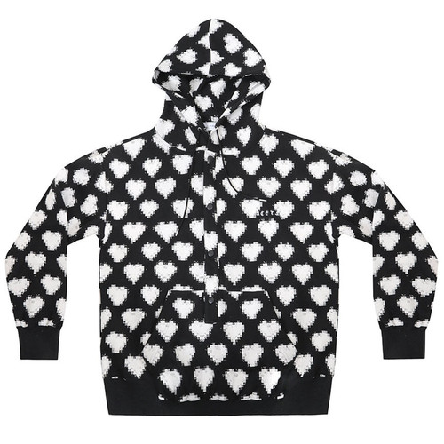 Black & White Digital Heart Sweatshirt