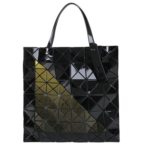 Yellow Triangle Geometric Tote Bag