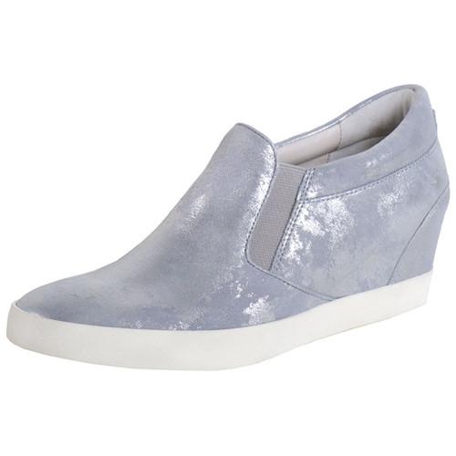 Silver Slip-On Sneaker Heel