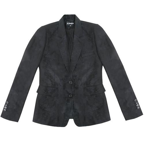 Black Floral Tone Blazer