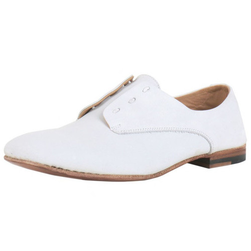 White Leather Slip On Shoes