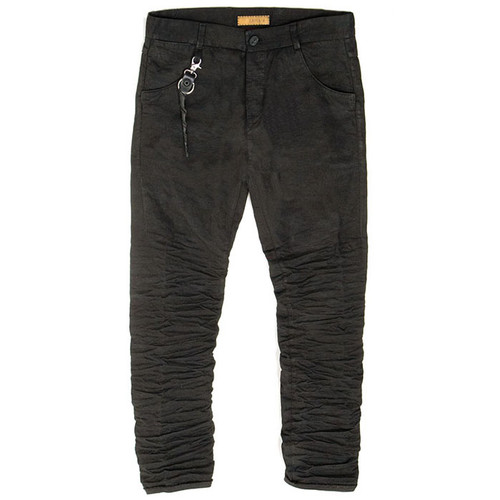 Black Corded Cotton Trouser
