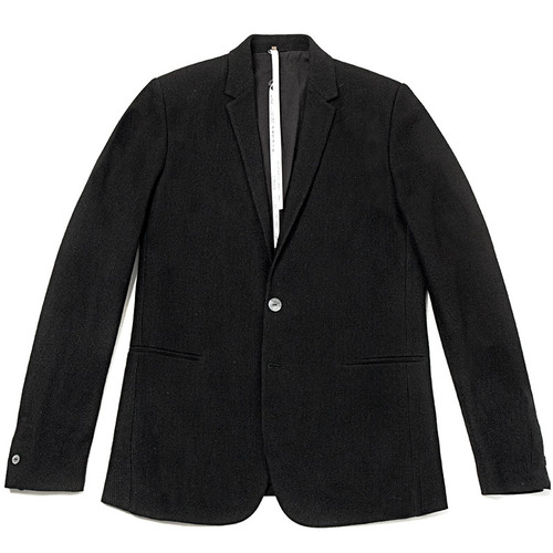 Black Corded Sponged Fabric Jacket