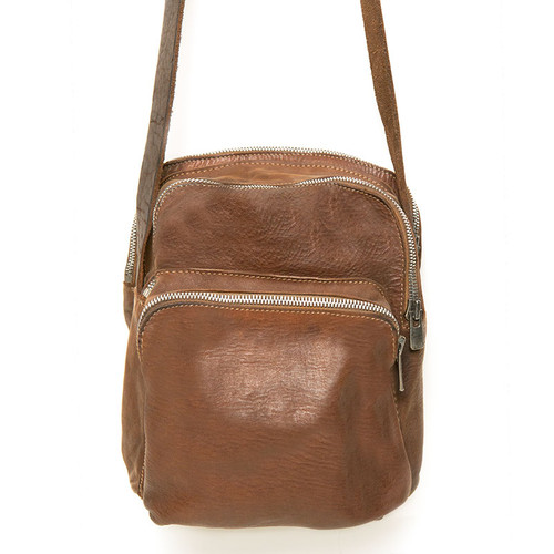 Khaki Triple Zip Small Bag