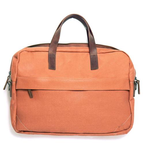 Orange Canvas Briefcase