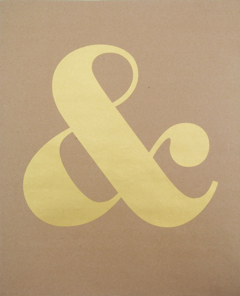 Ampersand - Gold Screenprint - Limited Edition Print