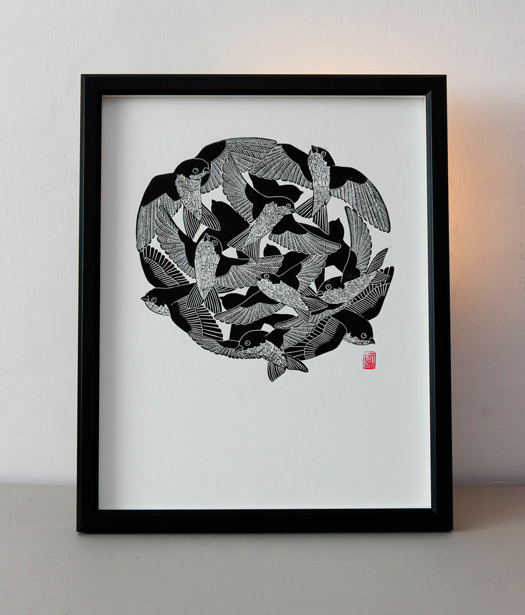 House Martin - Limited Edition Lino Print
