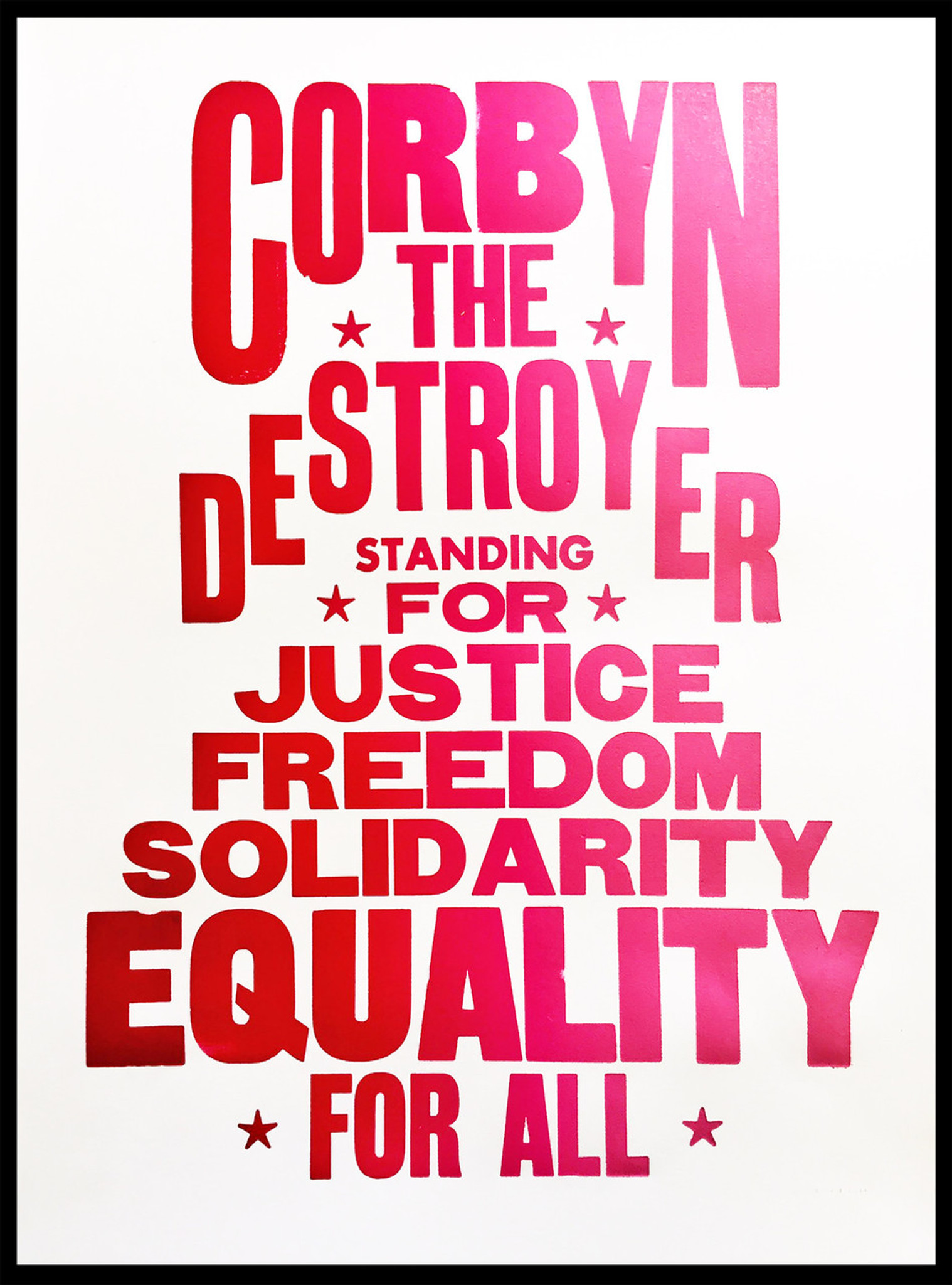 Corbyn the Destroyer - Limited Edition Print