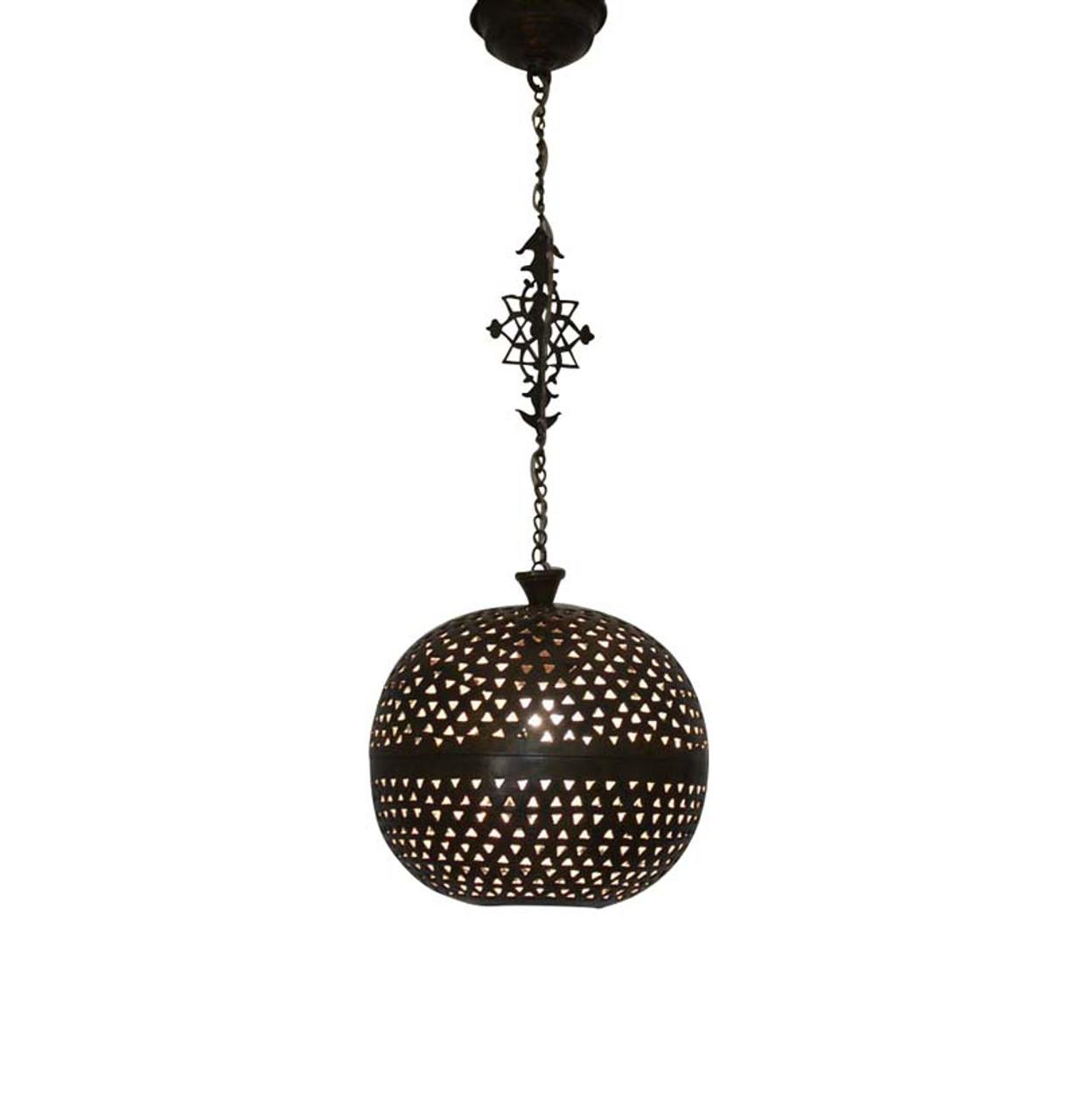 Moroccan pendant lights moroccan pendant light pendant light moroccan brass pendant light lamp oxidized aloadofball Gallery
