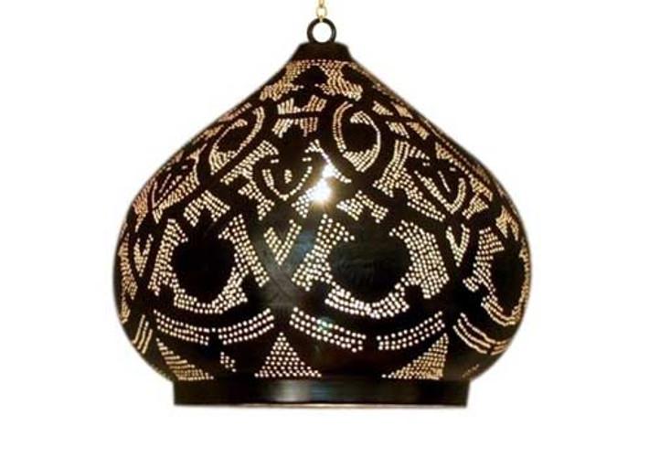Moroccan style shade lantern