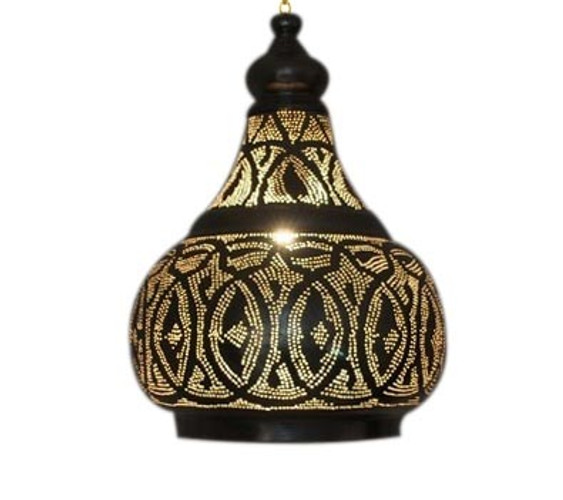 Silver Plated Moroccan Pendant Lamp