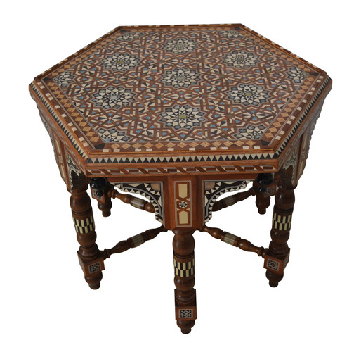 Arabian Mother of Pearl Inlaid Coffee Side Table