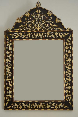 Persian style Mother of Pearl Inlaid Wood Mirror Frame