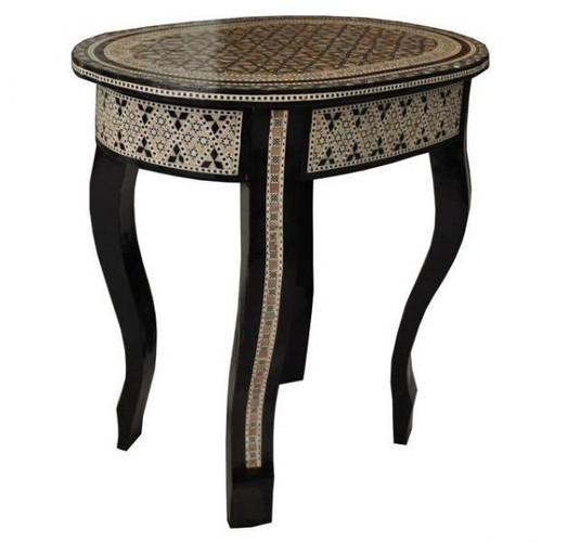 Egyptian Mother of Pearl Oval Table