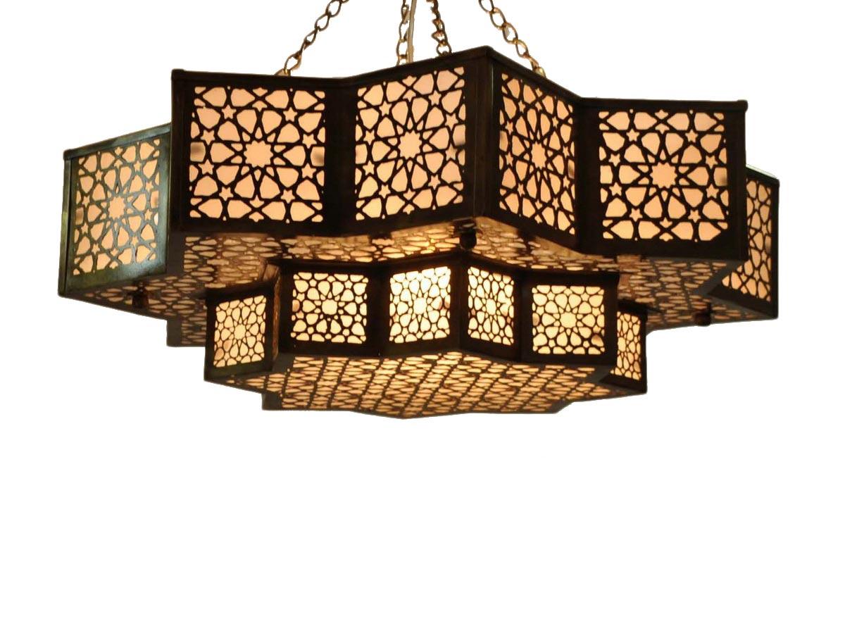 Moroccan brass hanging lamp lantern moroccan lantern moroccan ceiling light fixture aloadofball Image collections