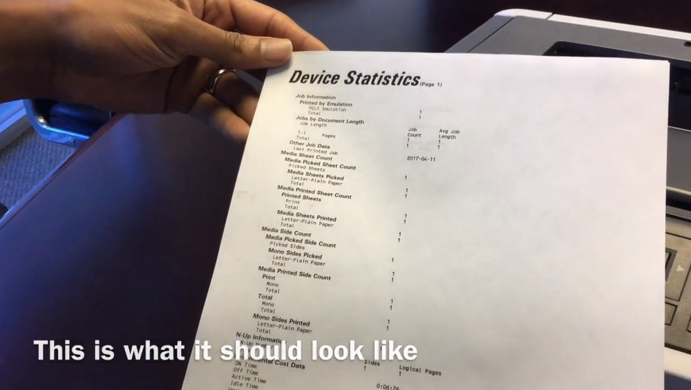 How to Print a Device Statistics Report on Your Lexmark MS417dn