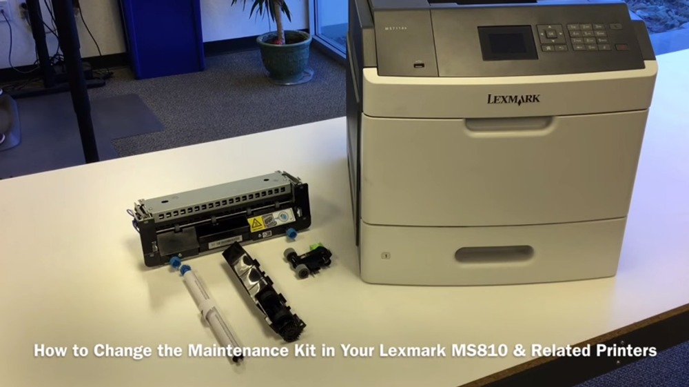 How to Change the Maintenance Kit in Your Lexmark MS810 & Related Printers