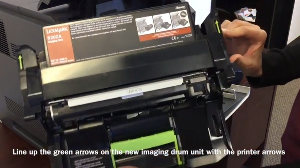Lexmark MS710: How to Replace the Imaging Drum Unit