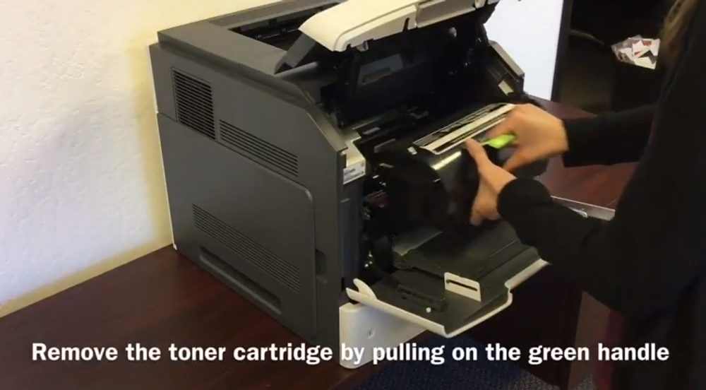Lexmark MS811: How to Replace the Toner Cartridge