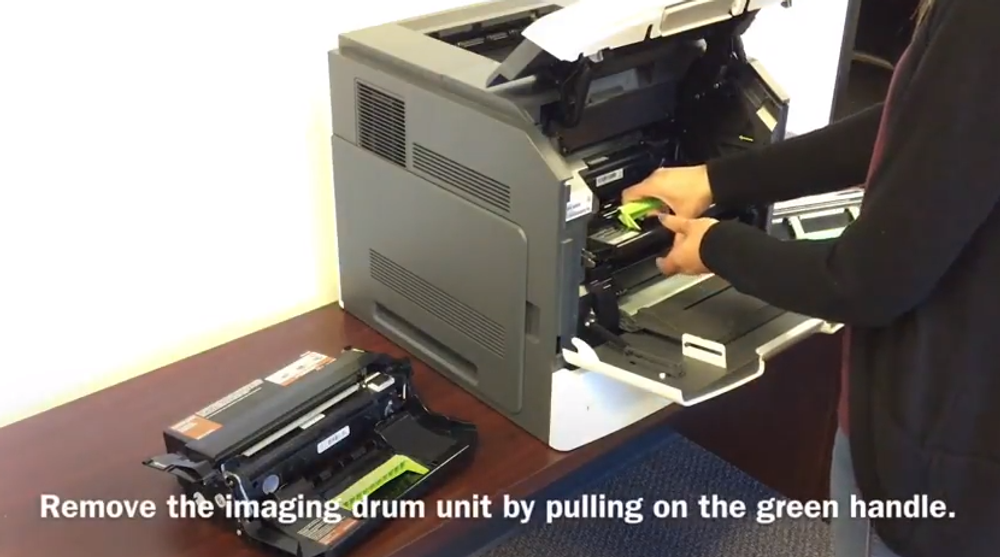 Lexmark MS812: How to Replace the Imaging Drum Unit