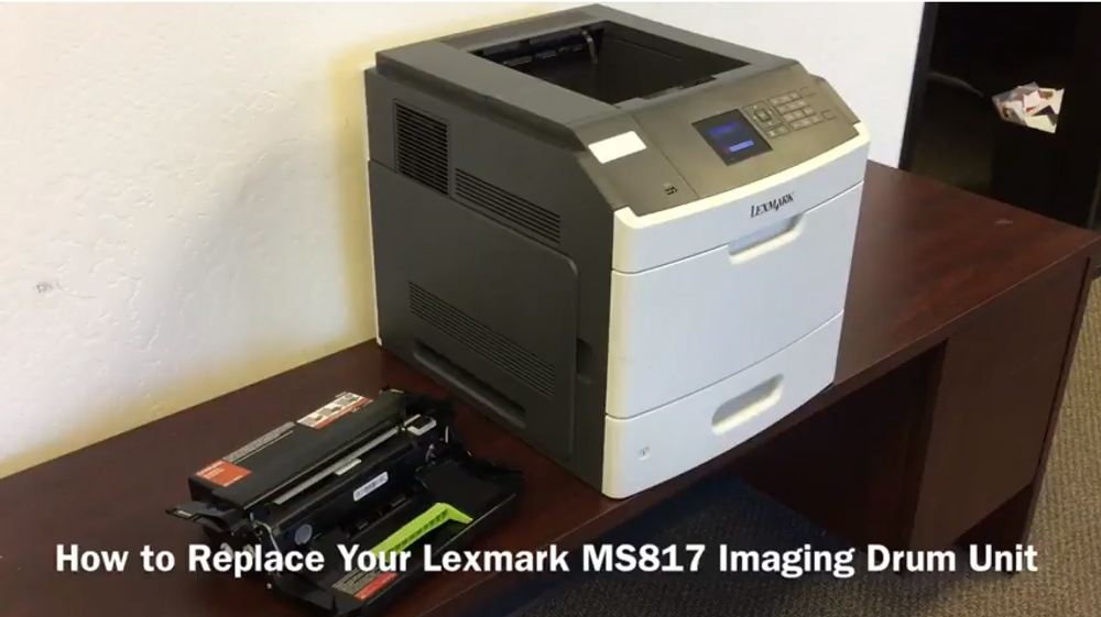 Lexmark MS817 Series: How to Replace the Imaging Drum Unit
