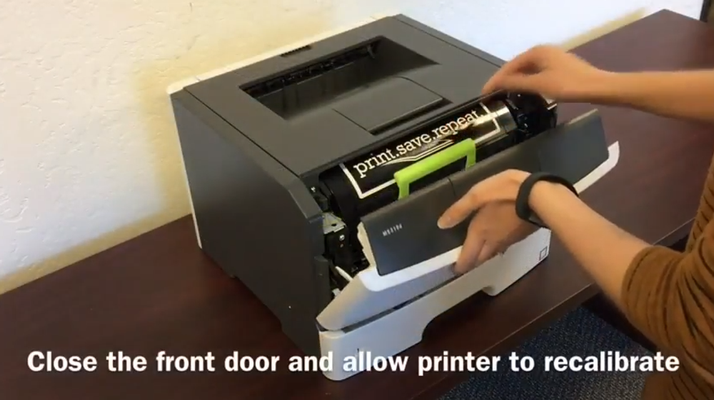 Lexmark MS310d: How to Replace the Toner Cartridge