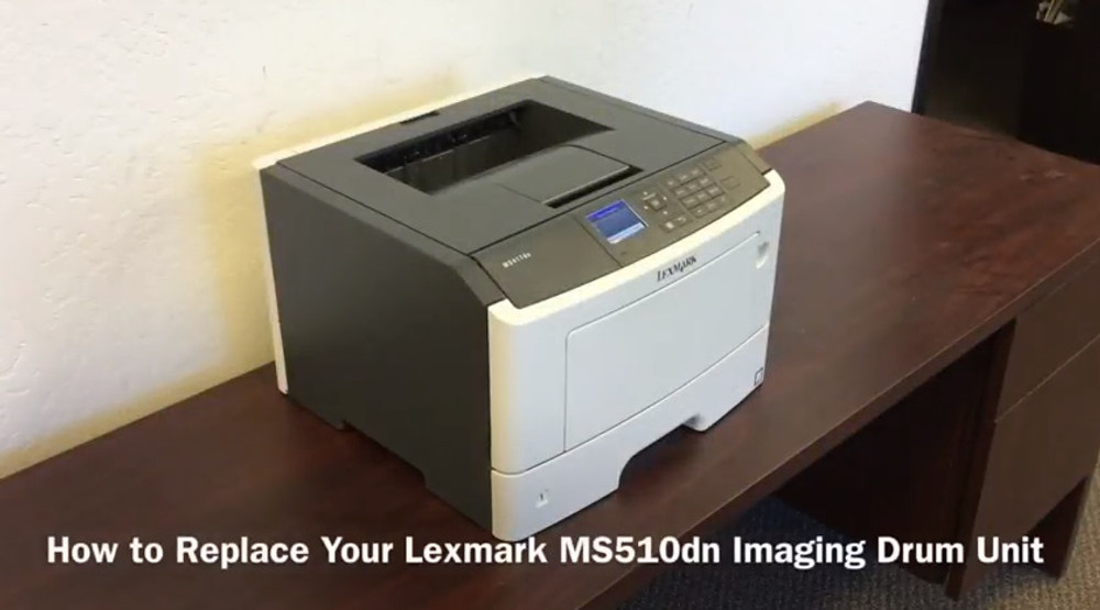 Lexmark MS510dn: How to Replace the Imaging Drum Unit