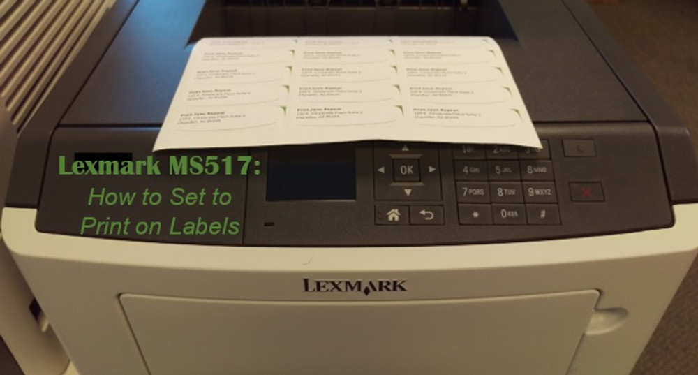 Lexmark MS517dn: How to Print on Labels