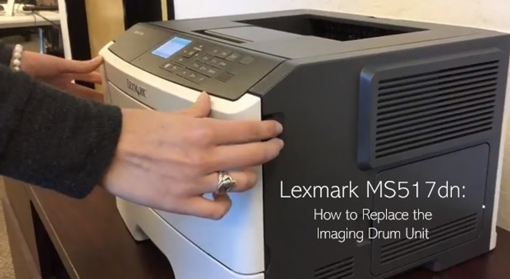 Lexmark MS517dn: How to Replace the Imaging Drum Unit