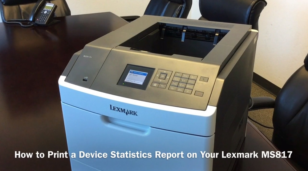 How to Print a Device Statistics Report on Your Lexmark MS817