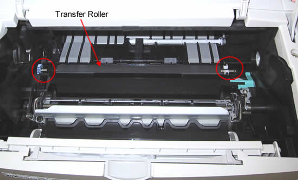 Dell 2330dn: How to Clean the Transfer Roll
