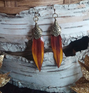 Sunflower Petal Earrings (#RYWD12179)