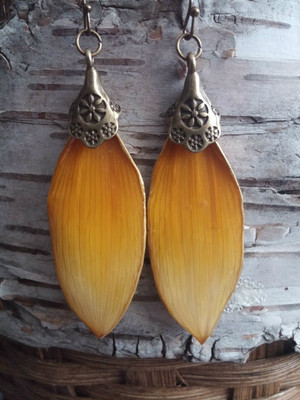 Sunflower Petal Earrings (#OB12177)