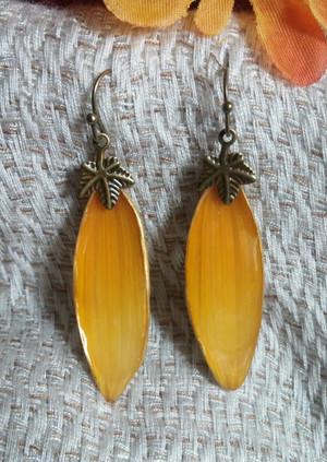 Sunflower Petal Earrings (#OBDC2184)