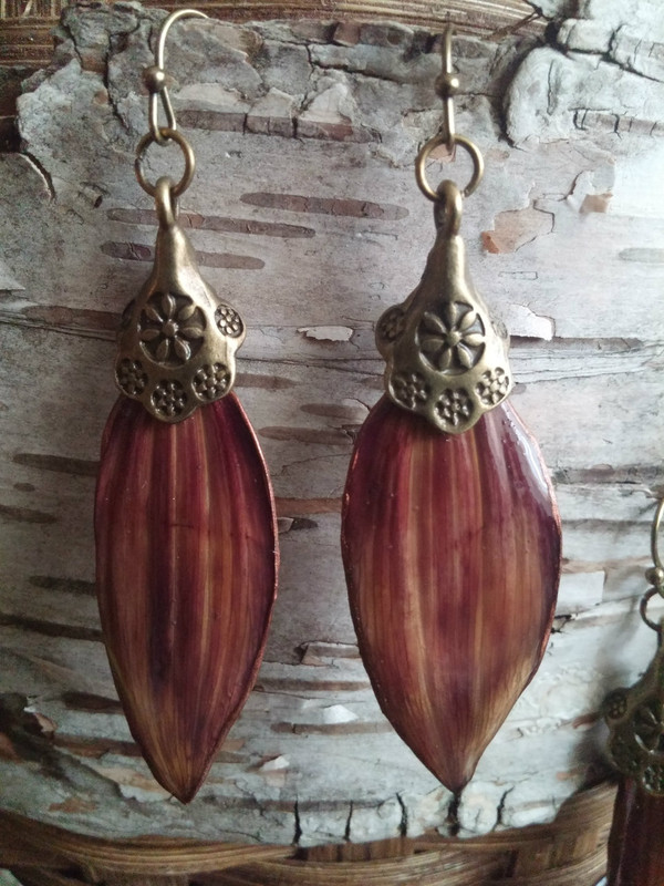 Sunflower Petal Earrings (#PYW1183)