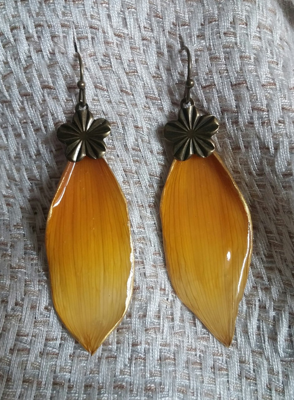 Sunflower Petal Earrings (#OBDC2189)