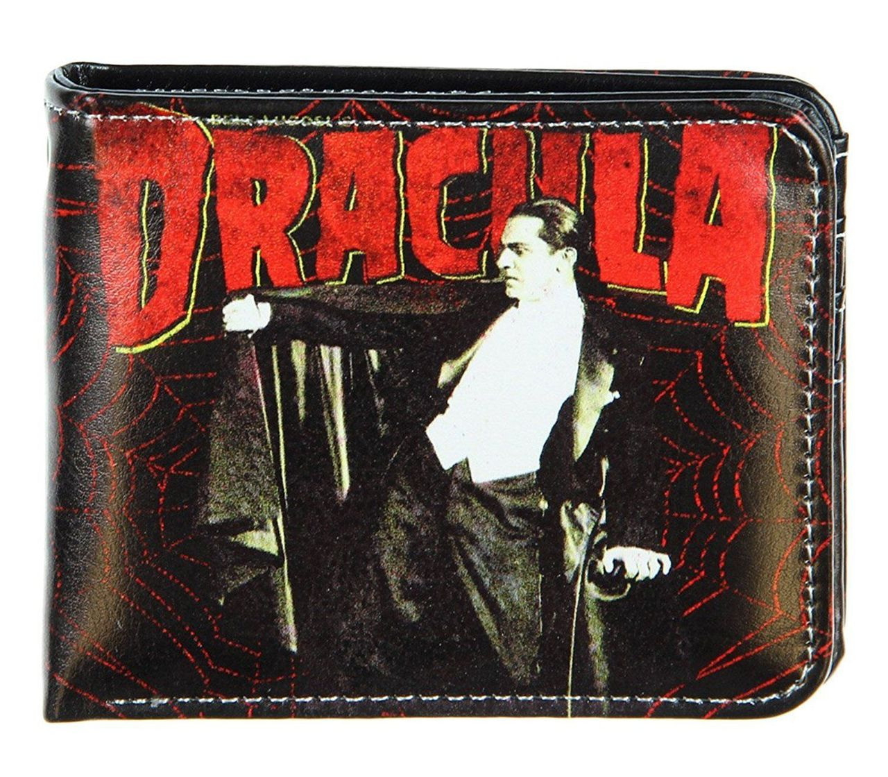 universal monsters dracula spider web bifold wallet horror halloween vampires