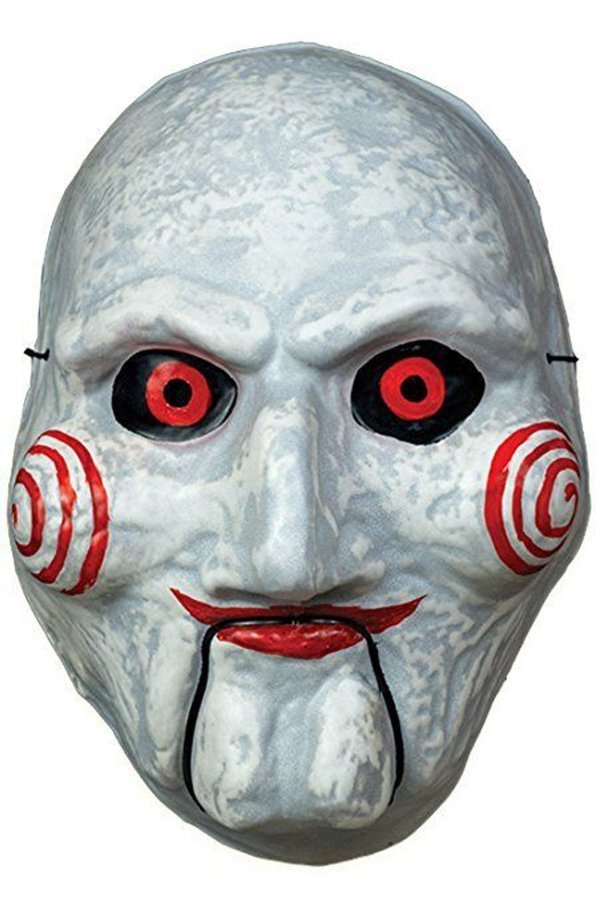 trick or treat saw billy puppet vacuform mask jigsaw halloween costume rllg106