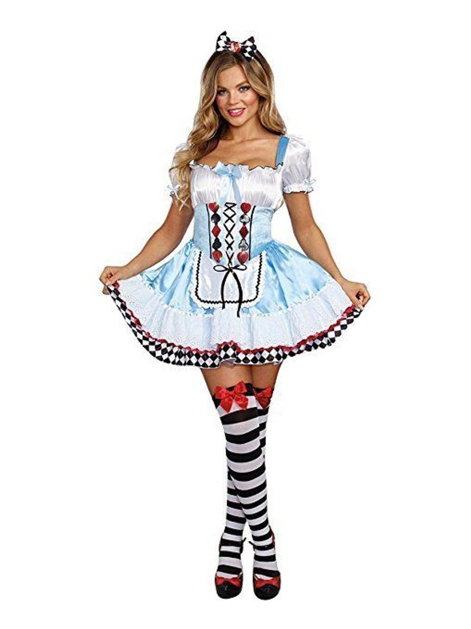 dreamgirl beyond wonderland alice rabbit adult womens halloween costume 10668