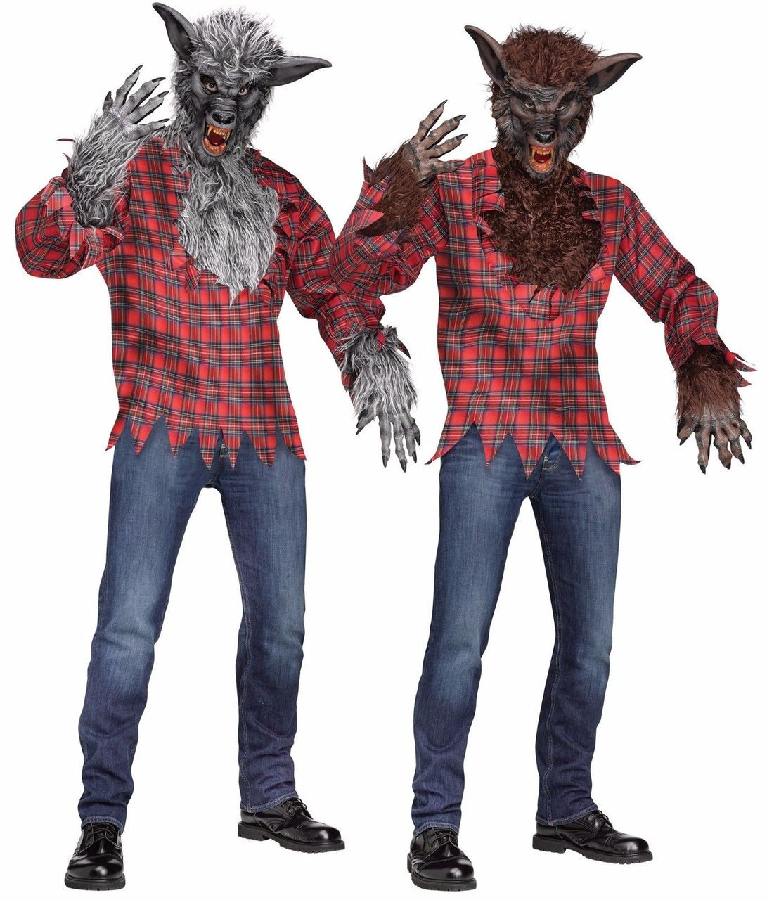fun world werewolf wolfman lycanthrope adult mens halloween costume 5409