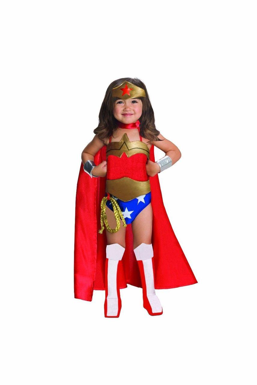 Rubies Dc Comics Wonder Woman Superman Child Girls Halloween Costume 882122 - Fearless -8640