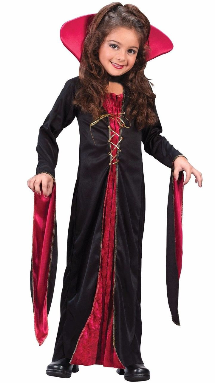 Fun World Victorian V&iress V&ire Child Girls Gothic Halloween Costume 8723  sc 1 st  Fearless Apparel & Fun World Victorian Vampiress Vampire Child Girls Gothic Halloween ...