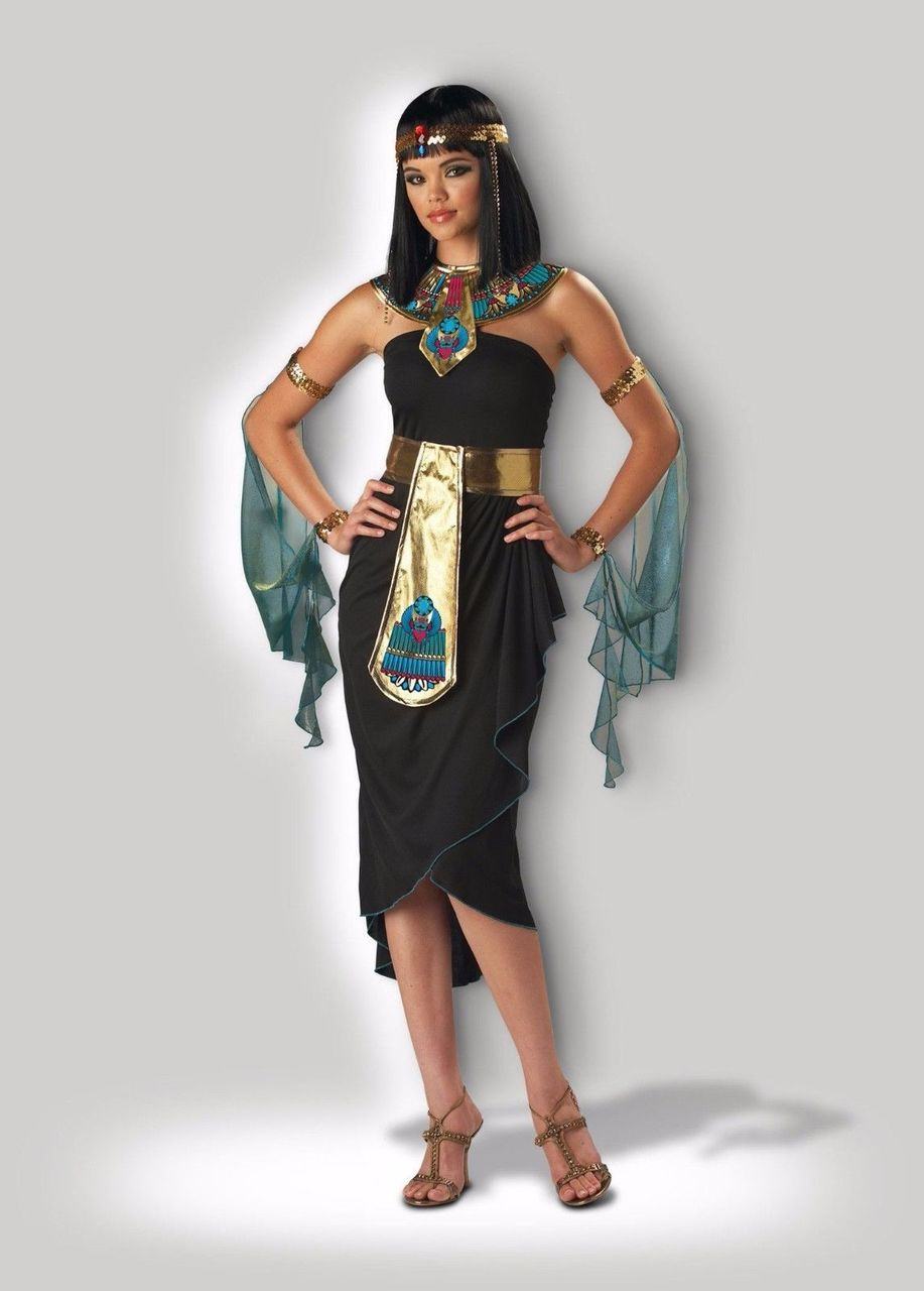 incharacter cleopatra egyptian pharaoh adult womens halloween