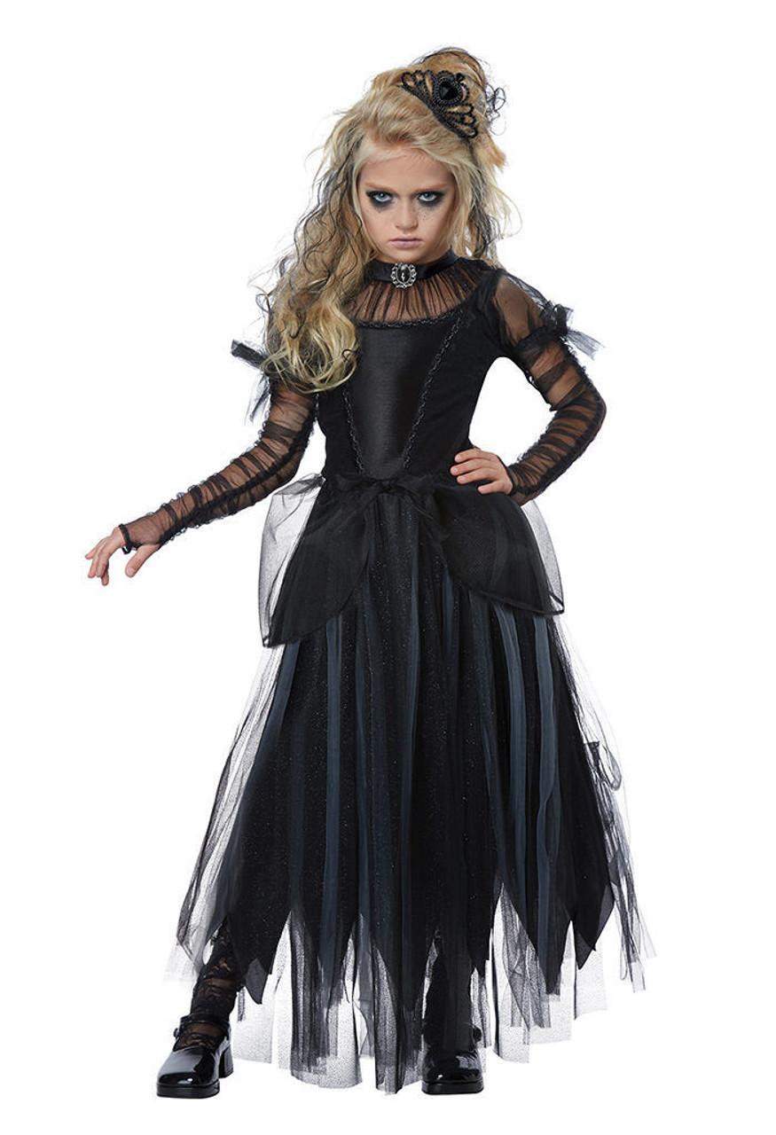 california costumes dark princess black child girls halloween costume 00585