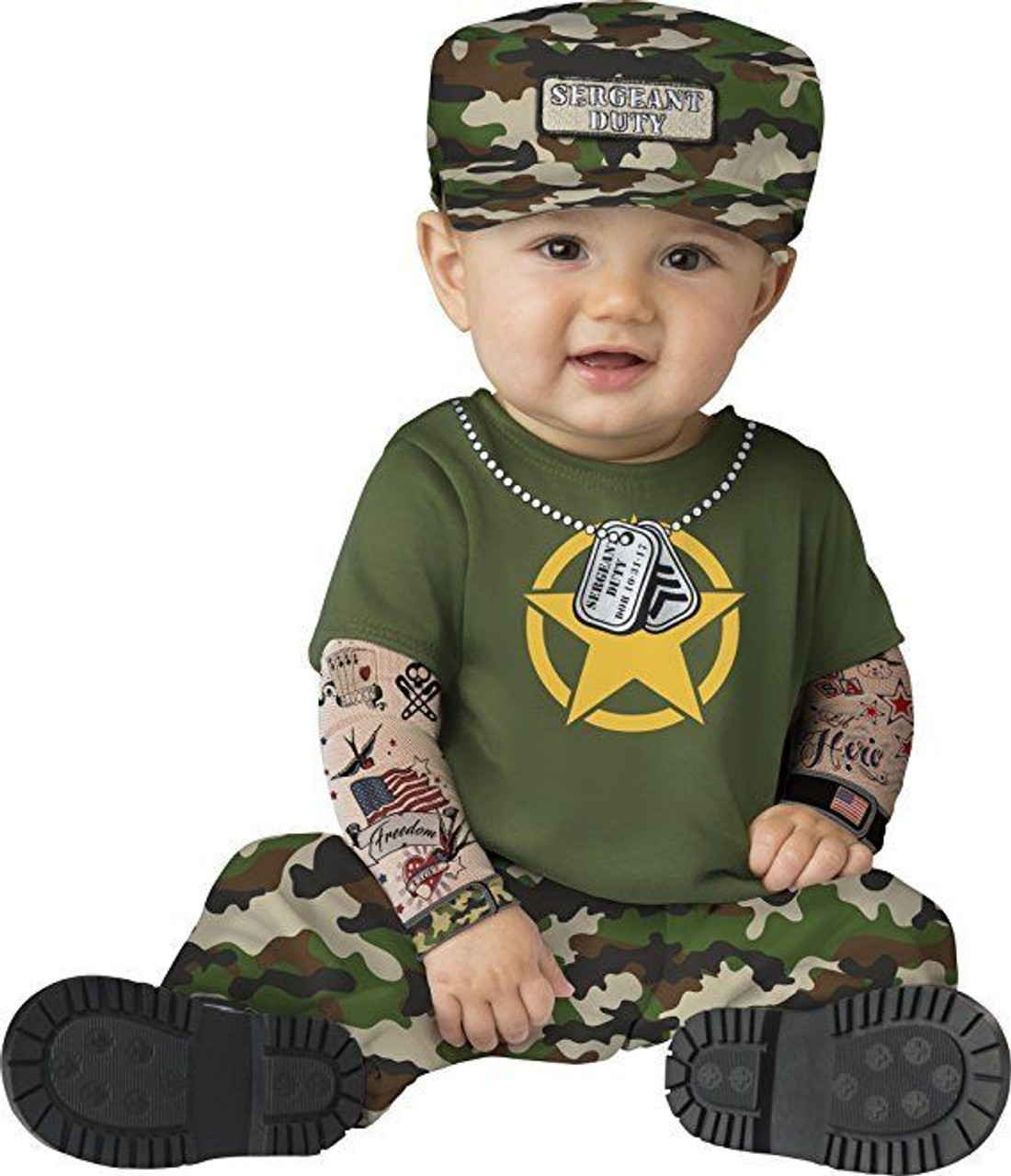 Incharacter Sergeant Duty US Army Hero Flag Infant Baby Halloween Costume 16071  sc 1 st  Fearless Apparel & Incharacter Sergeant Duty US Army Hero Flag Infant Baby Halloween ...