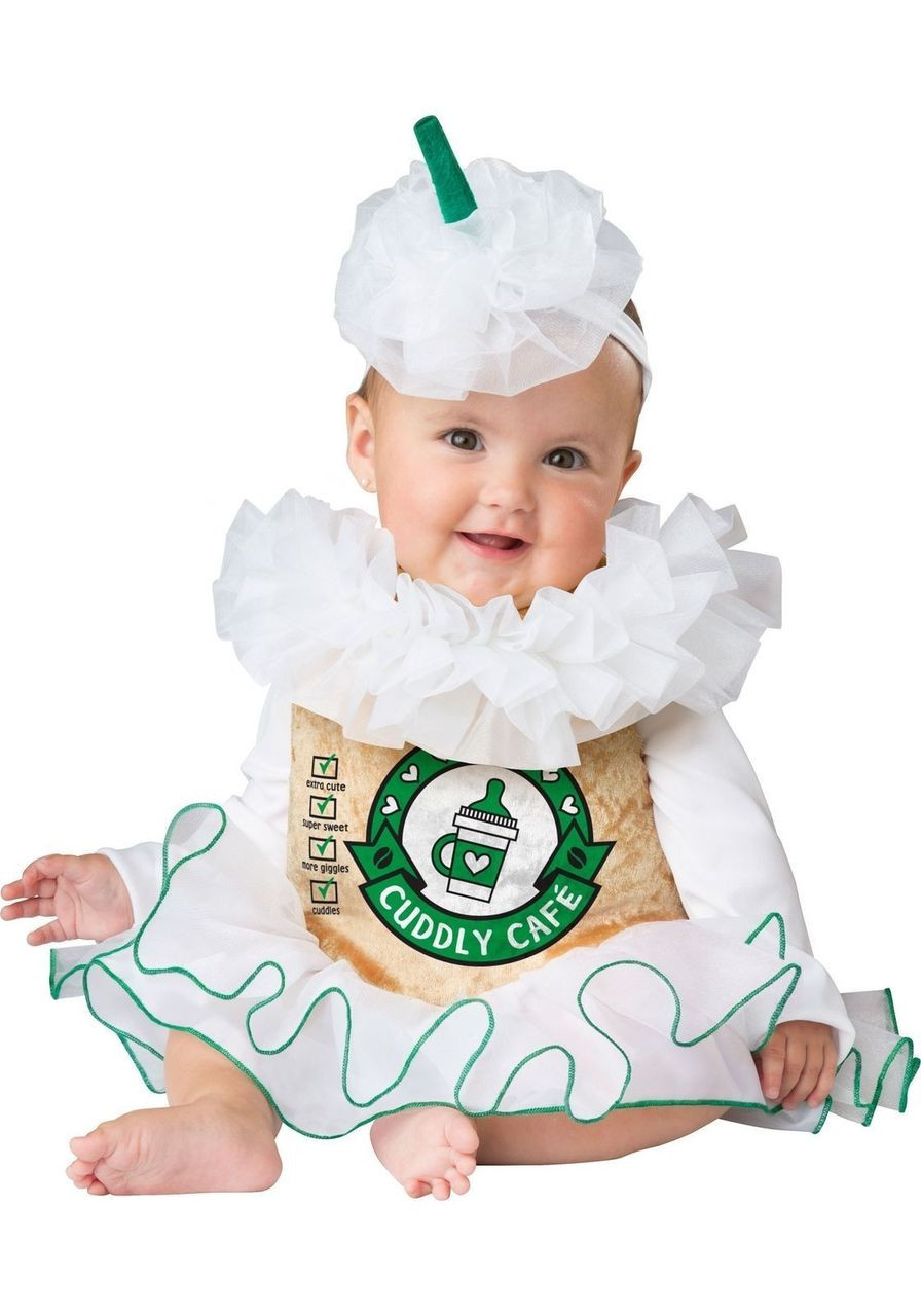 incharacter cuddly cappuccino coffee sweet infant baby halloween