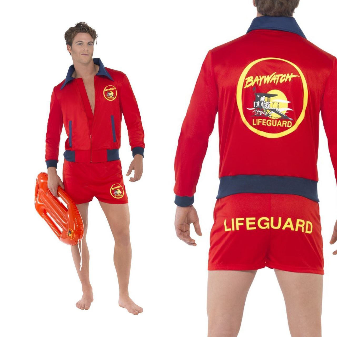 Smiffys Baywatch Lifeguard Beach The Rock Adult Mens Halloween Costume 20587  sc 1 st  Fearless Apparel & Smiffys Baywatch Lifeguard Beach The Rock Adult Mens Halloween ...