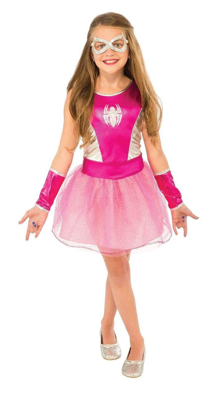 rubies pink tutu dress kids spider girl spiderman halloween costume 620033
