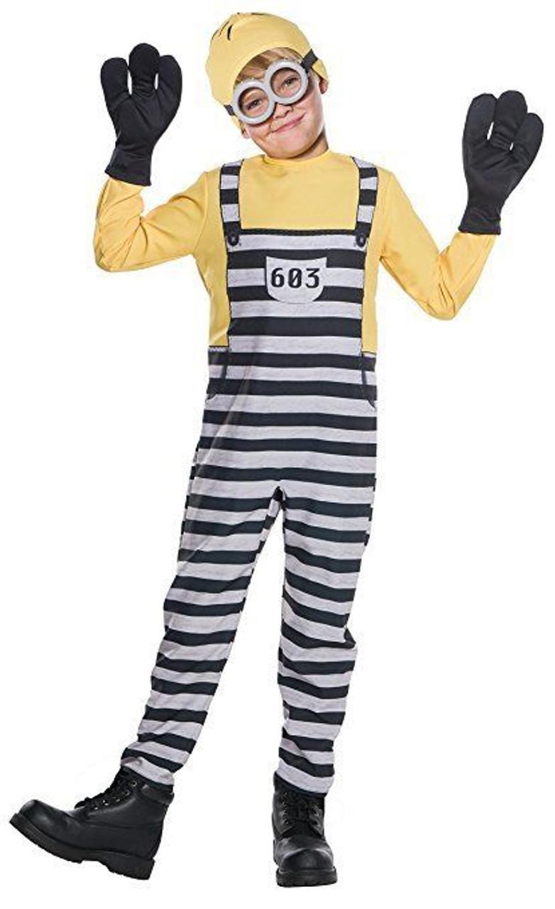 Rubies Despicable Me 3 Jail Minion Tom Gru Kevin Kids Halloween Costume 630847  sc 1 st  Fearless Apparel & Rubies Despicable Me 3 Jail Minion Tom Gru Kevin Kids Halloween ...
